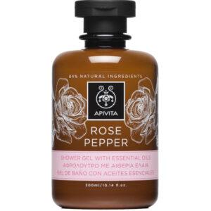 APIVITA ROSE&PEPPER Gel za tuširanje s esencijalnim uljima cop